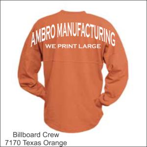 Billboard Crew Texas Orange