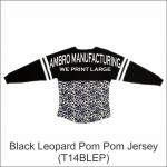 Pom Pom Jersey Black Leopard