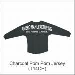 Pom Pom Jersey Charcoal