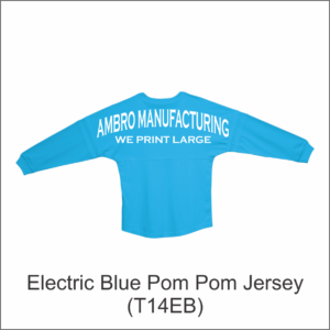 Pom Pom Jersey Electric Blue