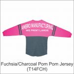 Pom Pom Jersey Fuchsia Charcoal
