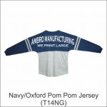 Pom Pom Jersey Navy Oxford