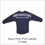 Pom Pom Jersey Navy