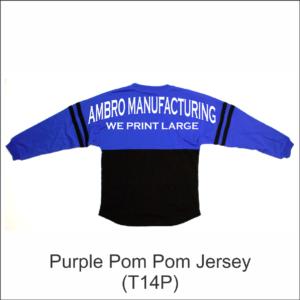 Pom Pom Jersey Purple
