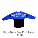 Pom Pom Jersey Royal Black