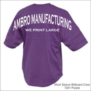 Short Sleeve Billboard Crew Purple