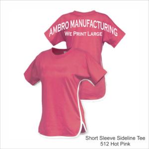 Short Sleeve Sideline Tee Hot Pink