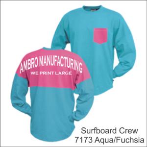 Surfboard Crew Aqua Fuchsia