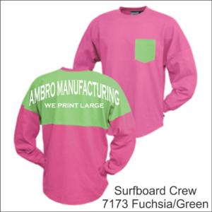 Surfboard Crew Fuchsia Green