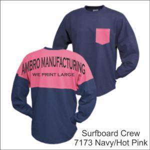 Surfboard Crew Navy Hot Pink