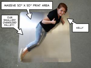 Oversized Screen Printing