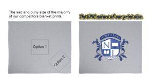 Big Logo on Blankets